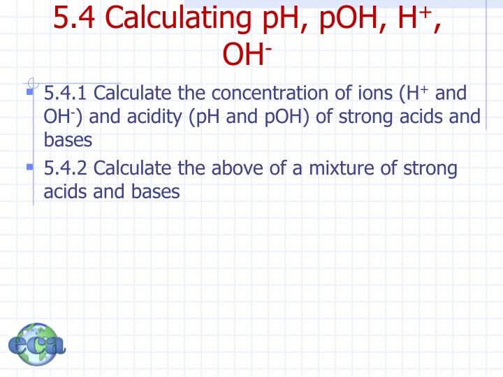 5.4 Calculating pH,