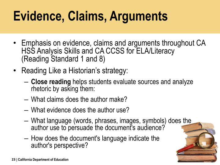 Evidence, Claims, Arguments