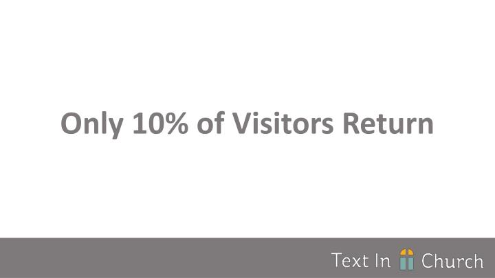 Only 10% of Visitors Return