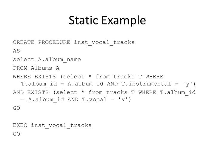 Static Example