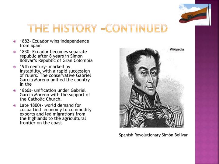 The history -continued