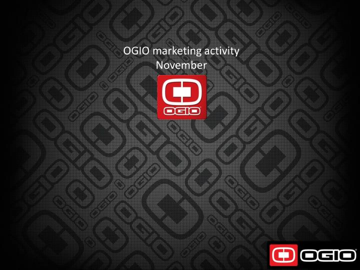 OGIO marketing activity