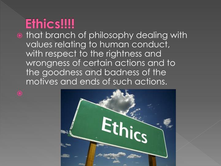 Ethics!!!!