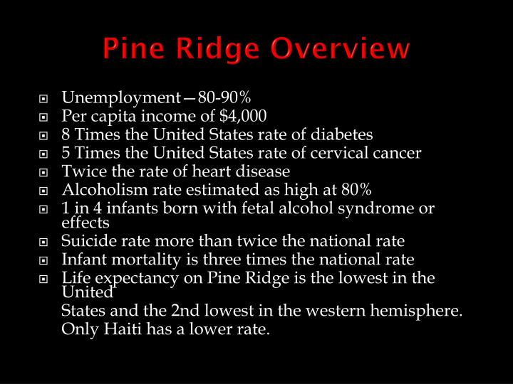 Pine Ridge Overview