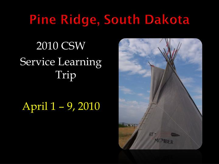 Pine ridge south dakota