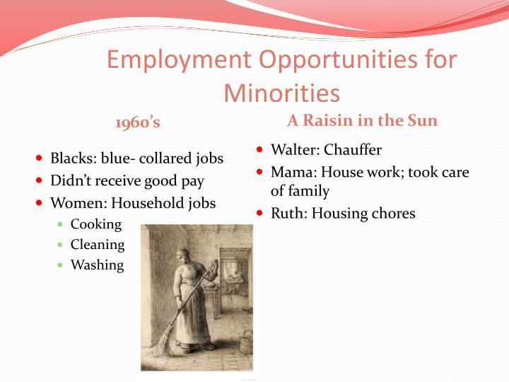 Employment opportunities for minorities