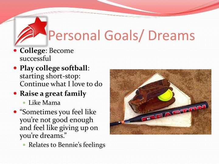 Personal Goals/ Dreams