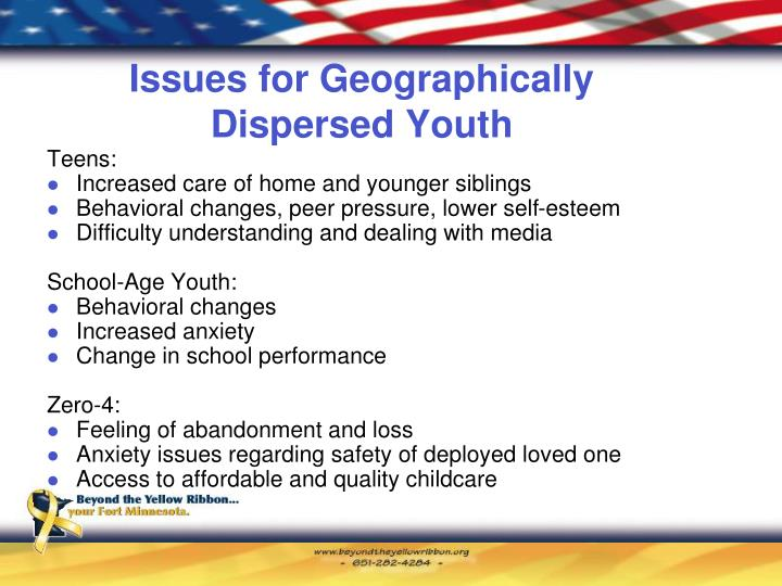 Issues for Geographically Dispersed Youth