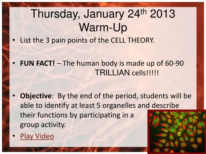Thursday, January 24