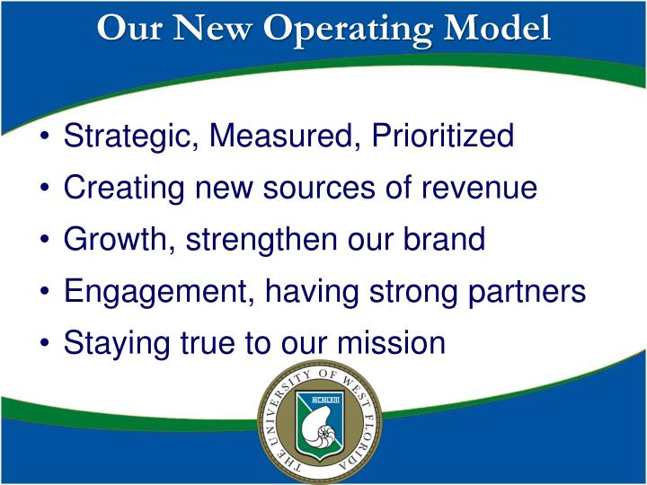 Our New Operating Model