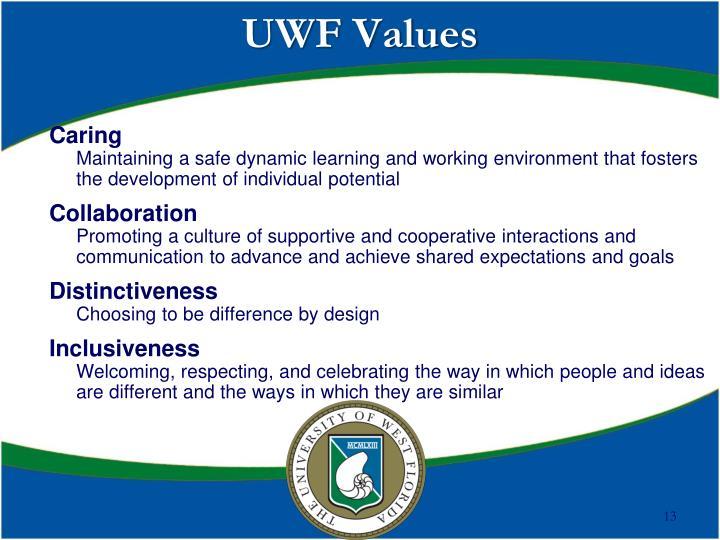 UWF Values