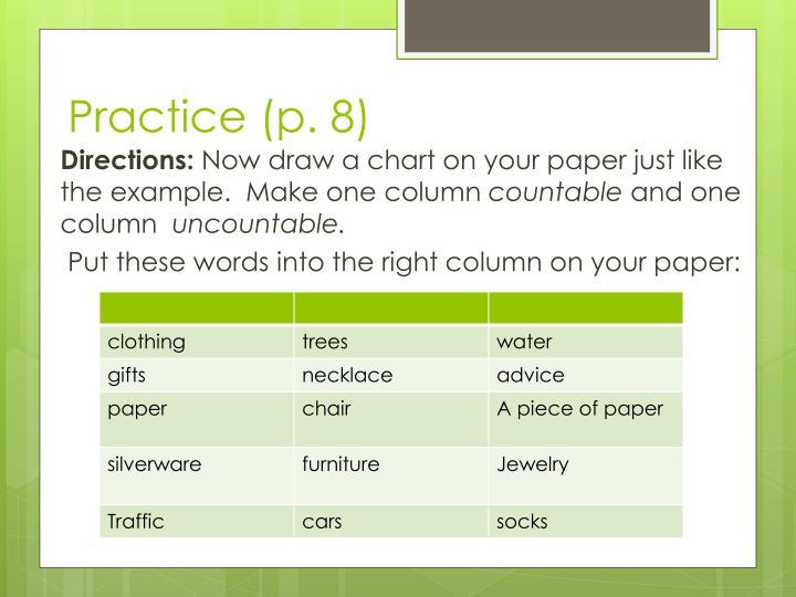 Practice (p. 8)