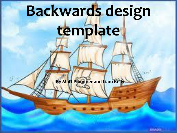 Backwards design template