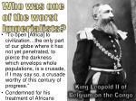 king leopold ii of belgium on the congo
