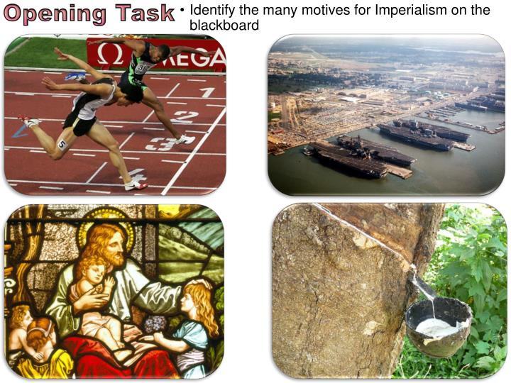 Identify the many motives