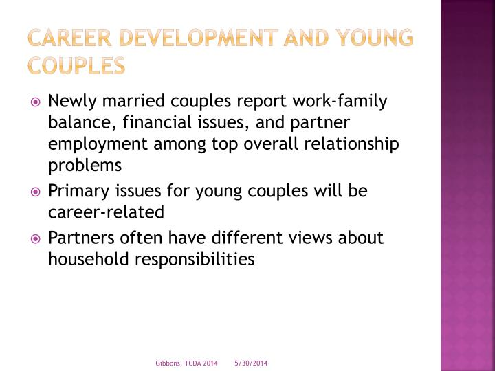 Career development and young couples