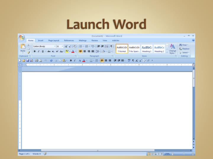 Launch word