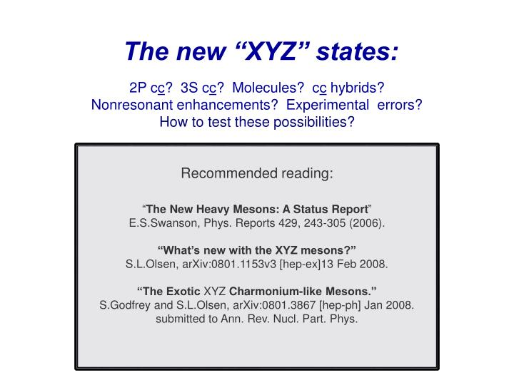 "The new ""XYZ"" states:"