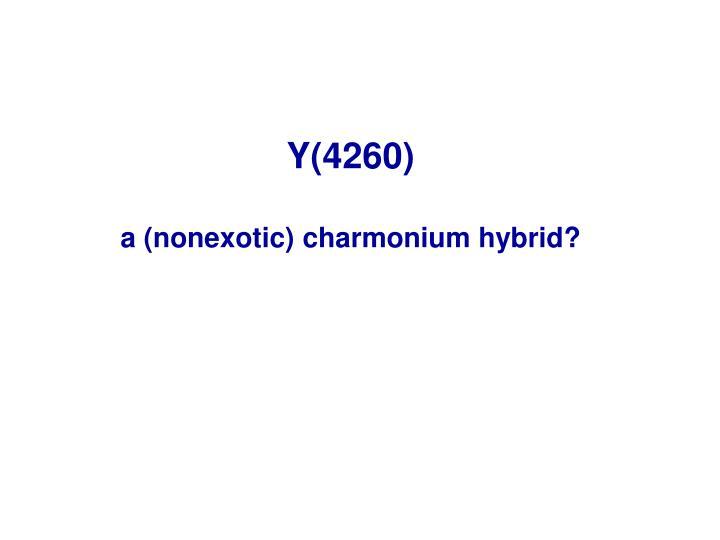 Y(4260)