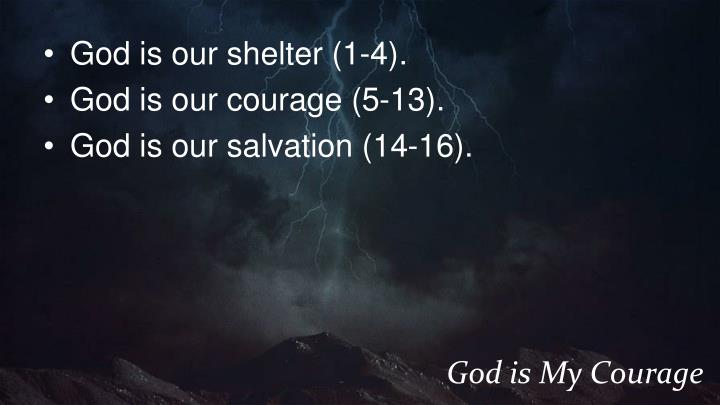God is our shelter (1-4).