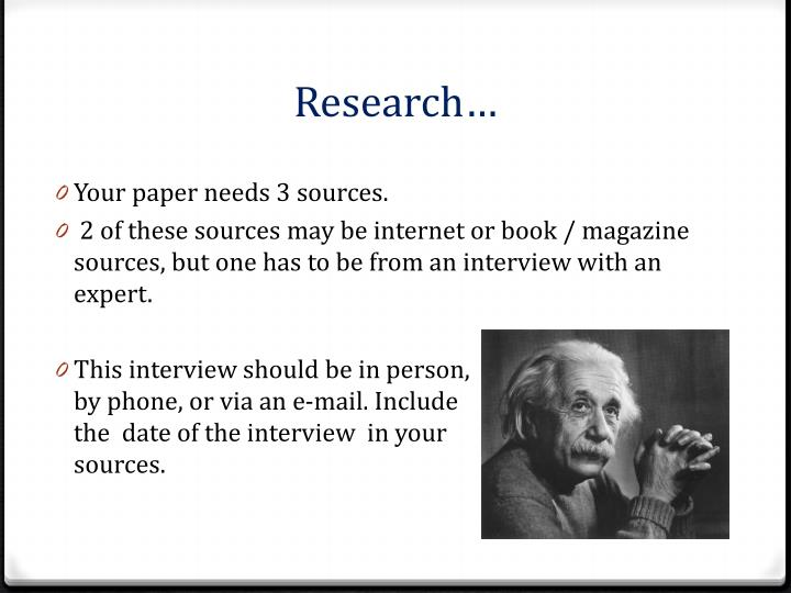 Research…