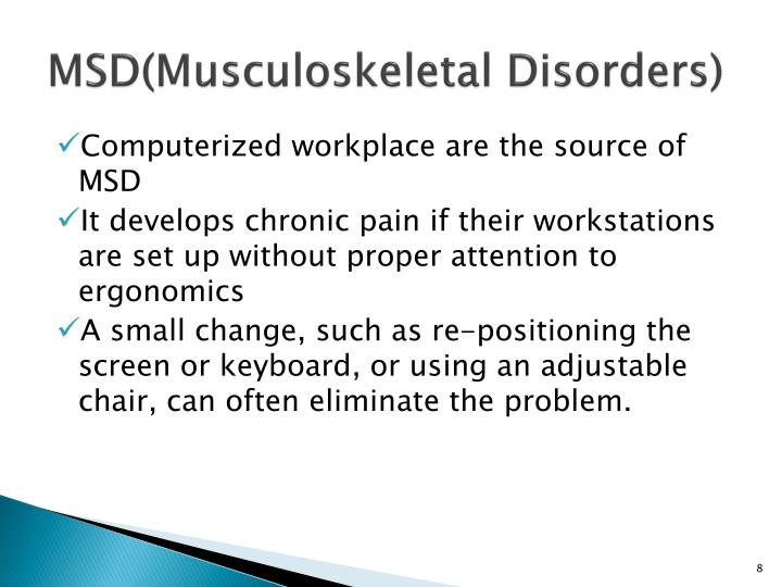 MSD(Musculoskeletal Disorders)
