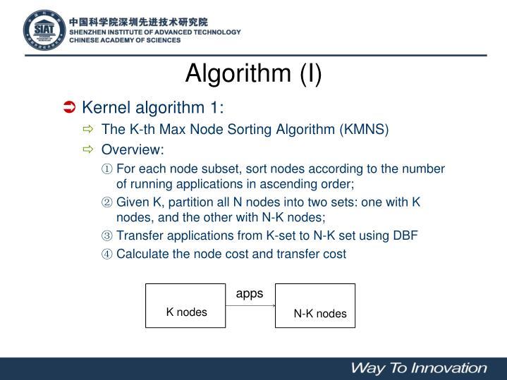 Algorithm (I)
