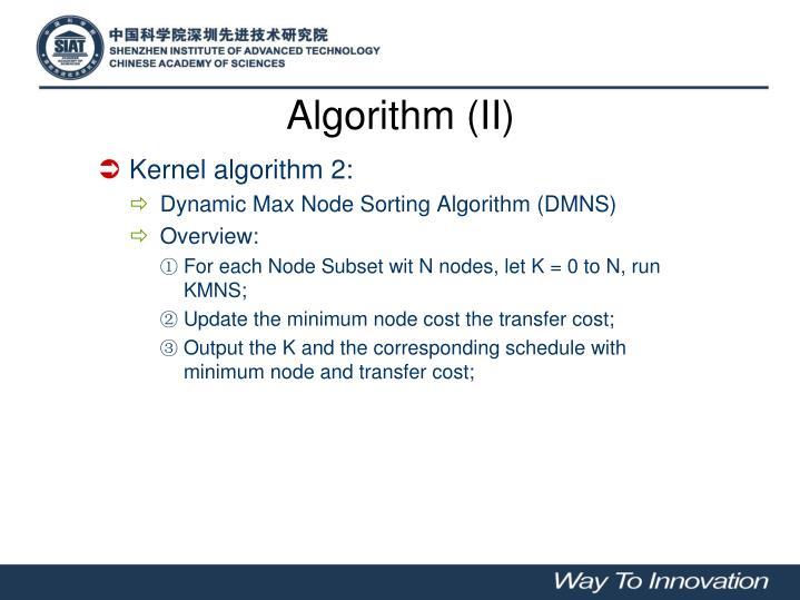 Algorithm (II)