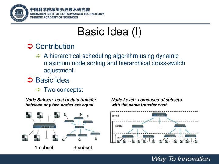 Basic Idea (I)