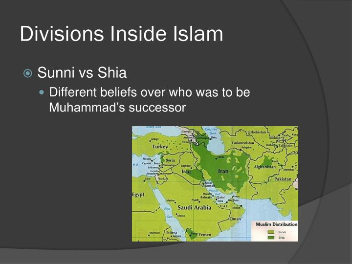 Divisions Inside Islam
