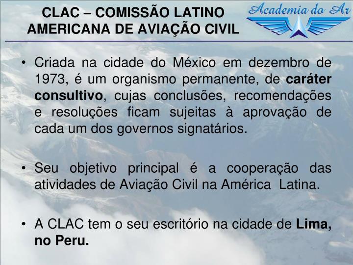 CLAC – COMISSÃO LATINO AMERICANA DE AVIAÇÃO CIVIL