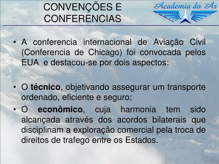 CONVENÇÕES E CONFERENCIAS