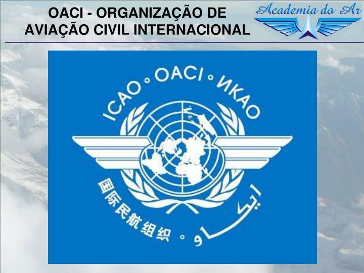 OACI - ORGANIZAÇÃO DE AVIAÇÃO CIVIL INTERNACIONAL
