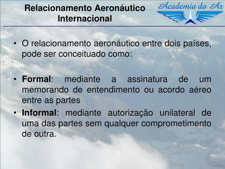 Relacionamento Aeronáutico Internacional