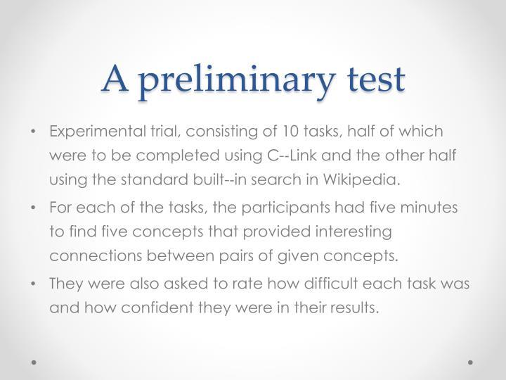 A preliminary test