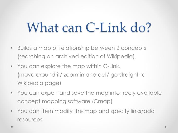 What can C-Link do?