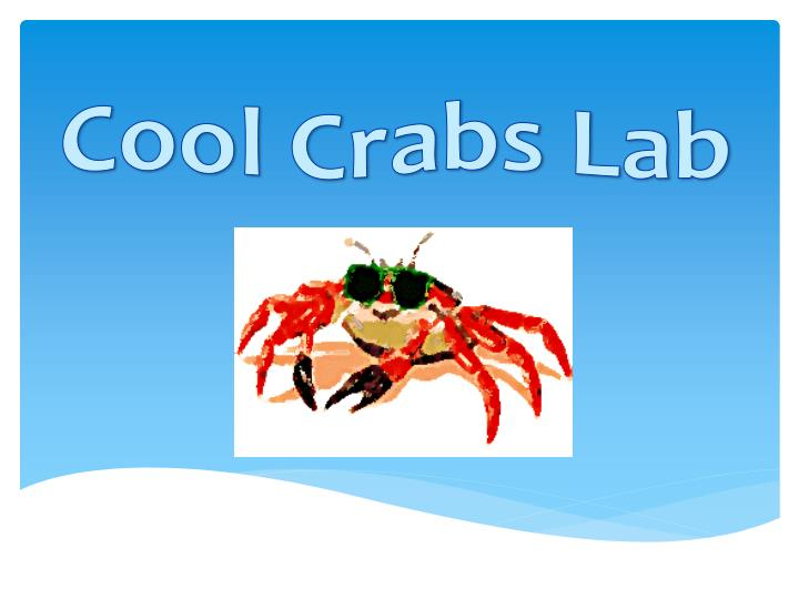 Cool crabs lab