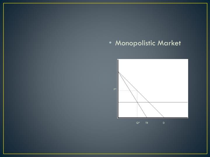 Monopolistic Market
