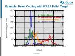 example beam cooling with wasa pellet target