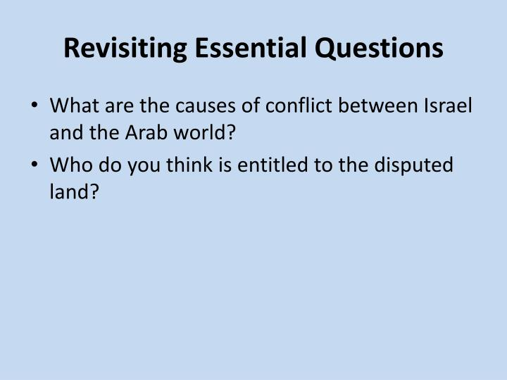 Revisiting Essential Questions