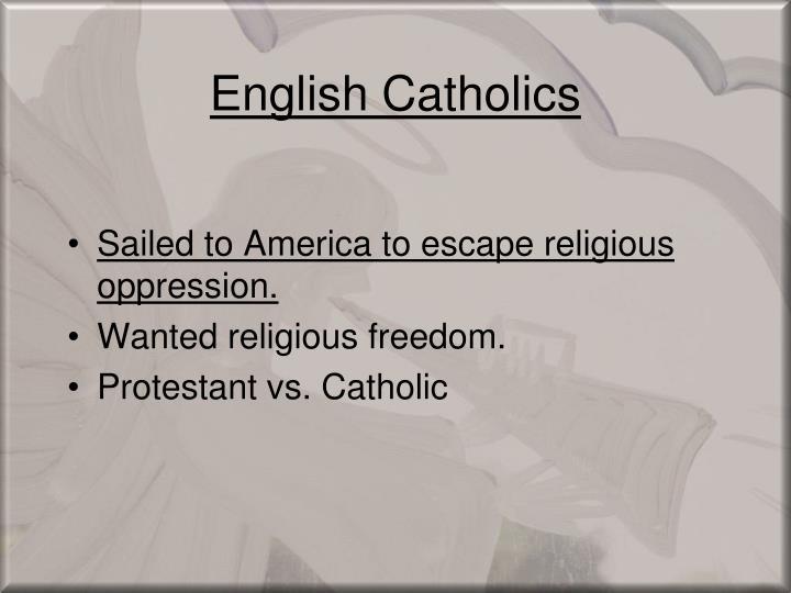 English Catholics