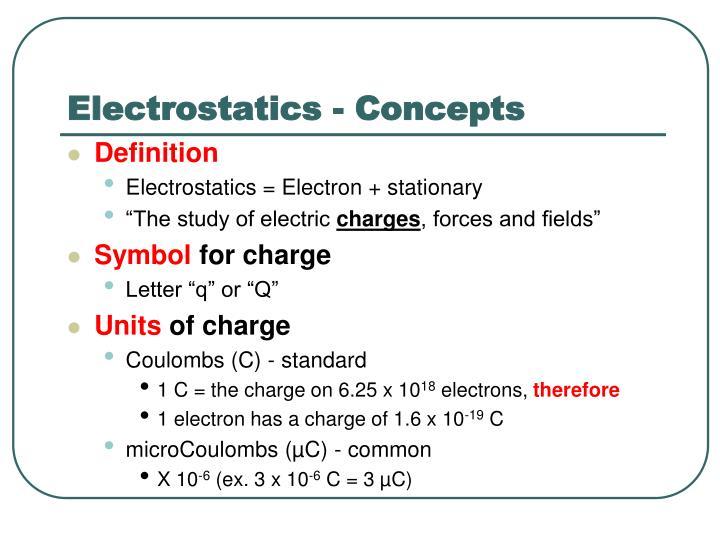 Electrostatics - Concepts