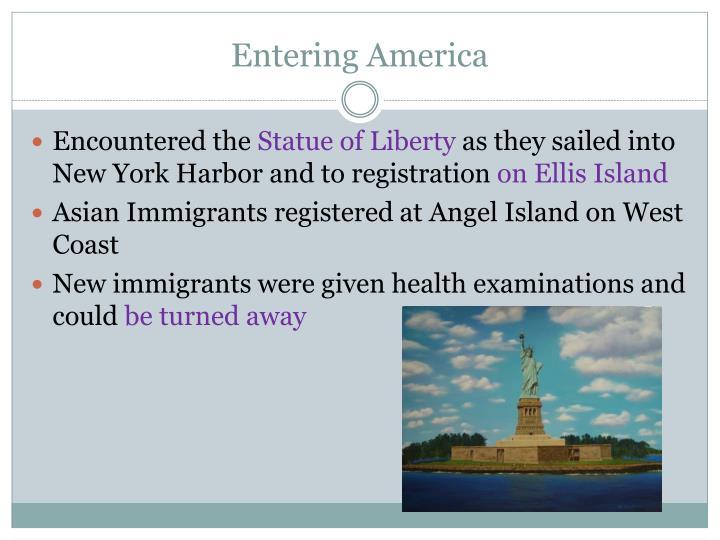 Entering America