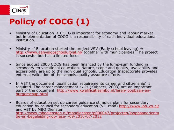 Policy of COCG (1)