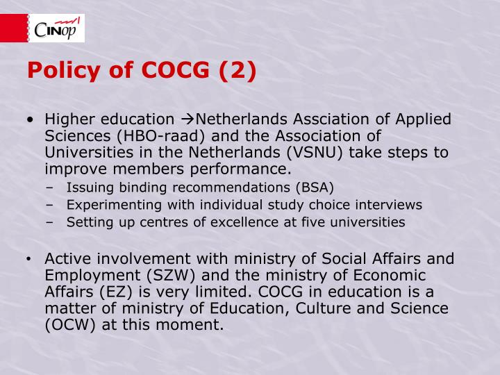 Policy of COCG (2)