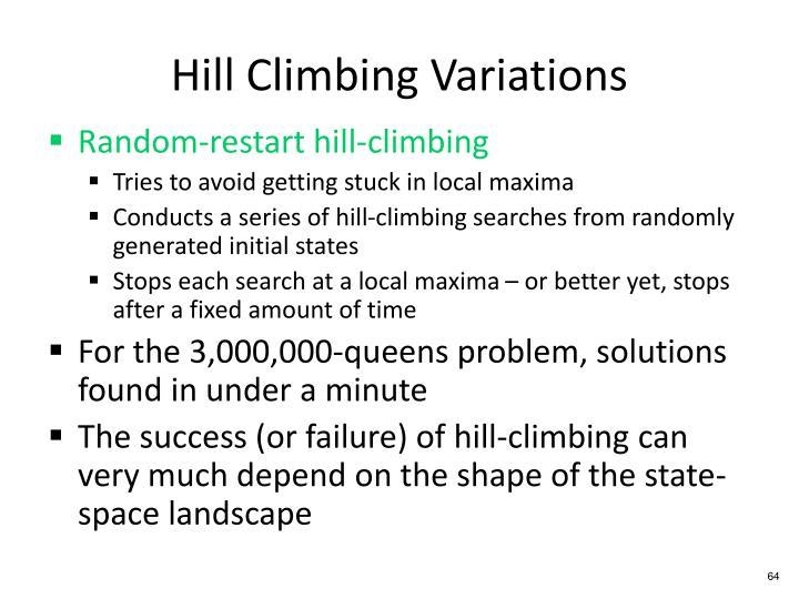 Hill Climbing Variations