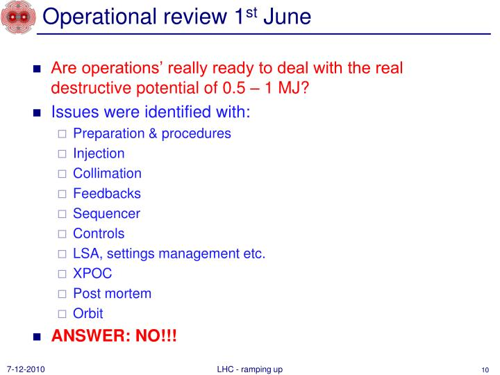 Operational review 1