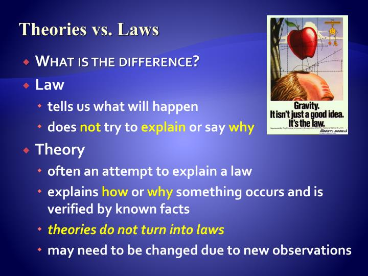 Theories vs. Laws