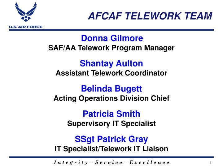 AFCAF TELEWORK TEAM
