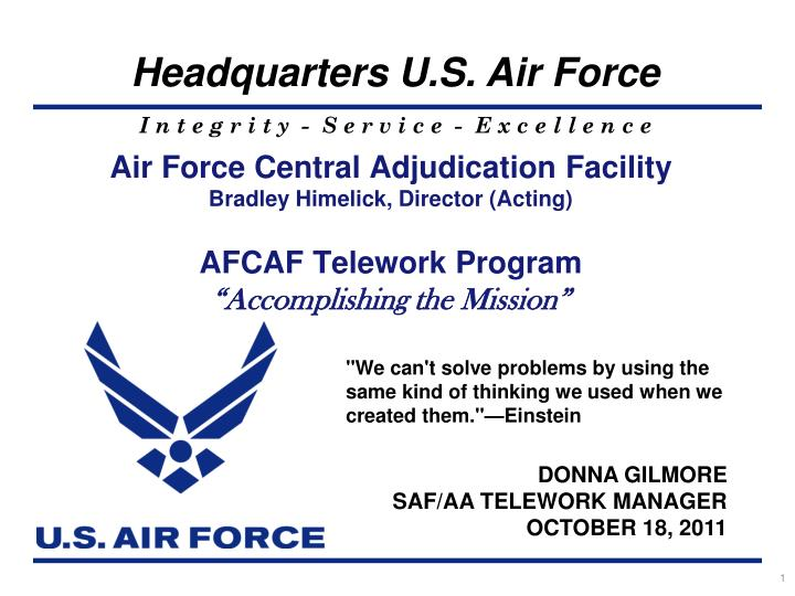 Air Force Central Adjudication